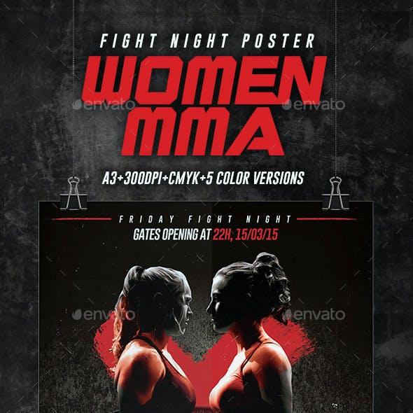 Women MMA Fight Poster