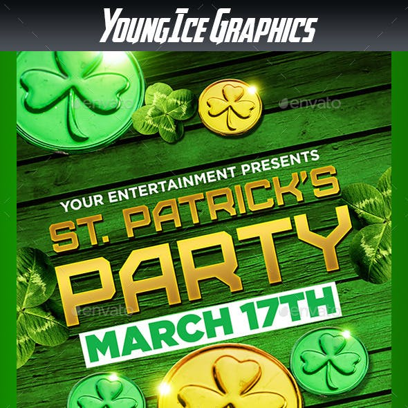 St Patricks Party Flyer Template