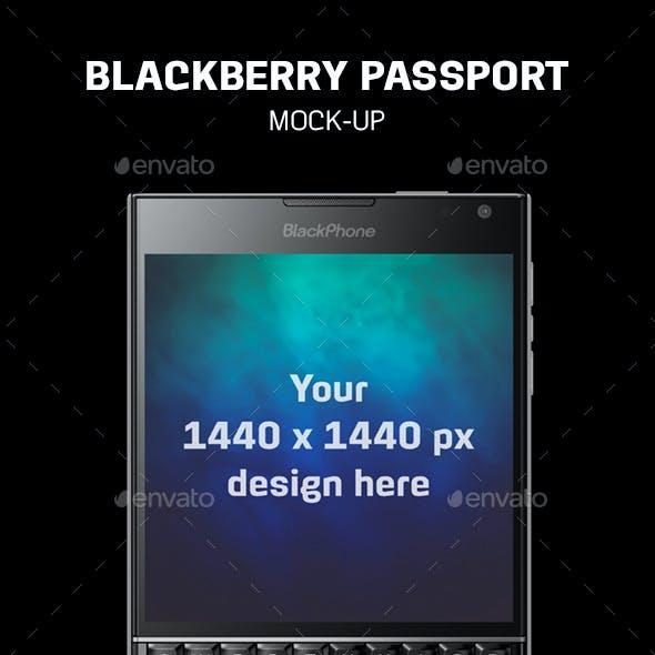 Blackberry Passport Mock-Up