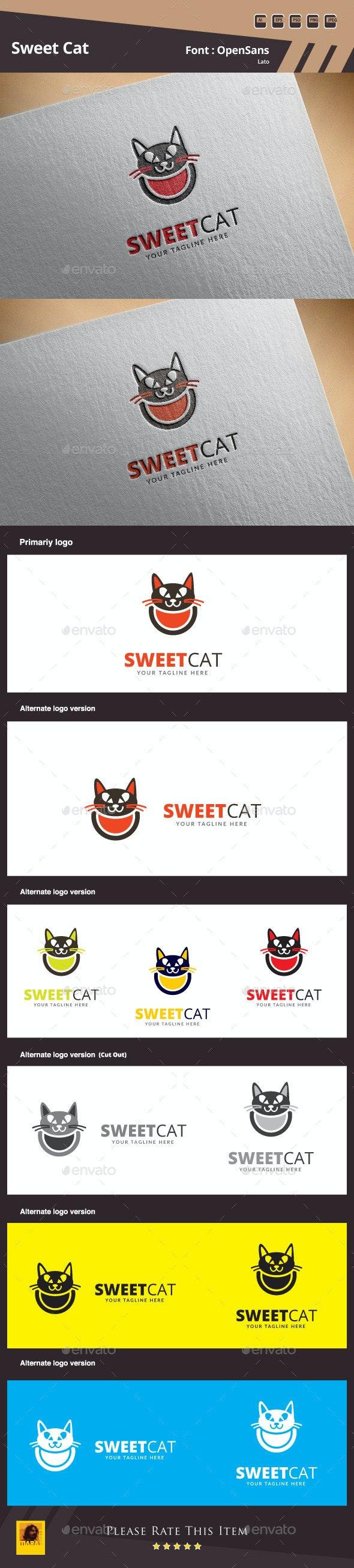 Sweet Cat Logo Template - Animals Logo Templates