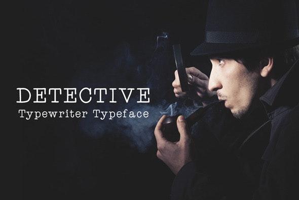 Detective - Typewriter Font - Serif Fonts