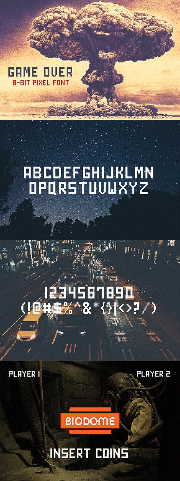 Game Over - Bitmap & Pixel Decorative