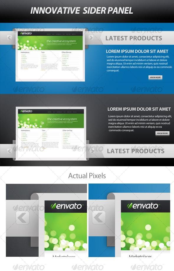 Innovative Web  Slider Panel - Sliders & Features Web Elements
