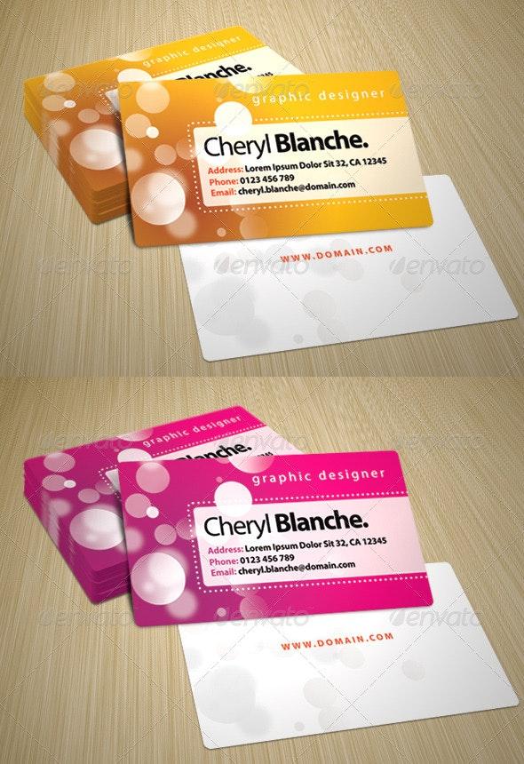 Bokeh Business Card - Creative Business Cards