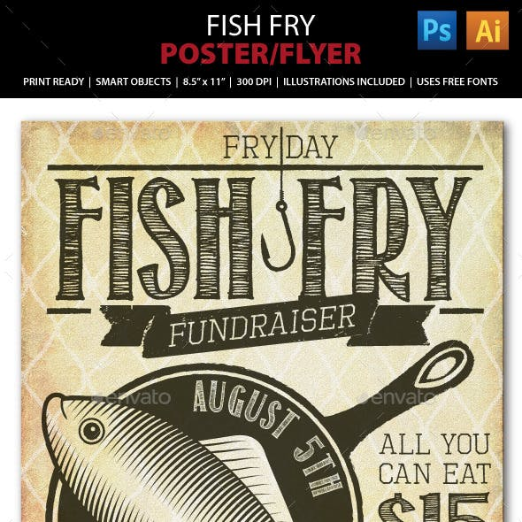 Fish Fry Event / Fundraiser  Poster, Flyer or Ad