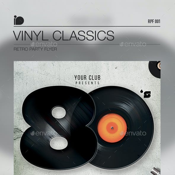 Retro Party Flyer • Vinyl Classics