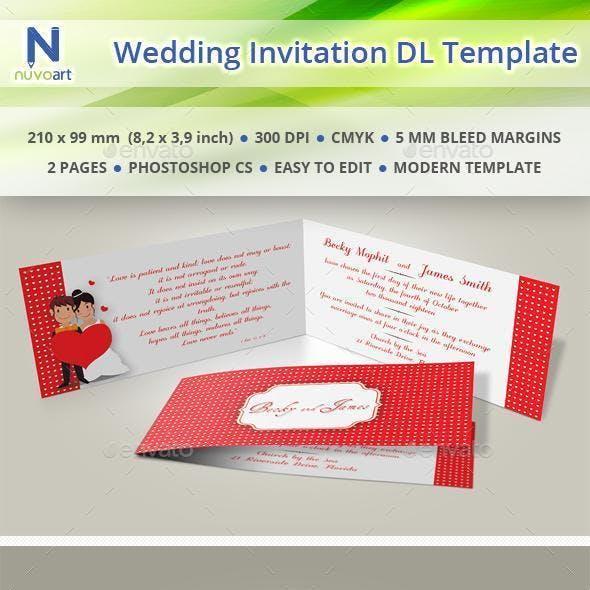 Wedding Invitation DL Template