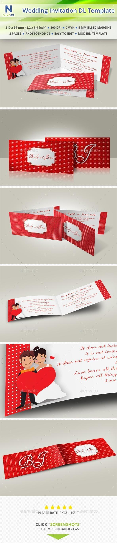 Wedding Invitation DL Template - Weddings Cards & Invites