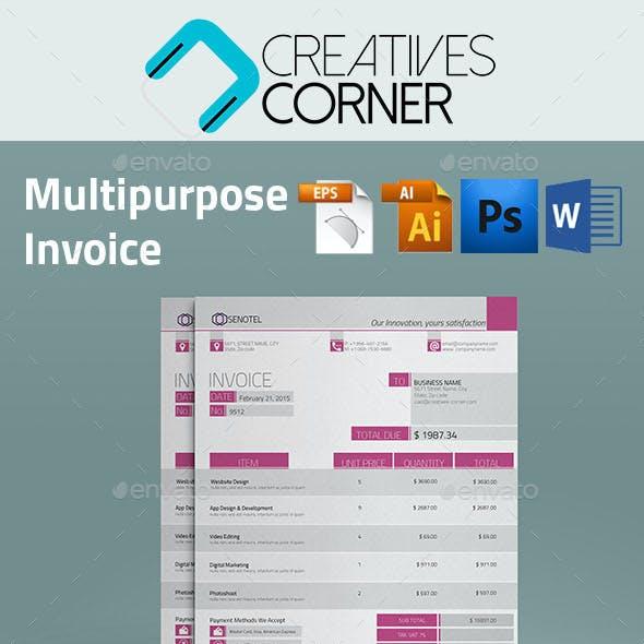 Multipurpose Clean Invoice Template - Senotel