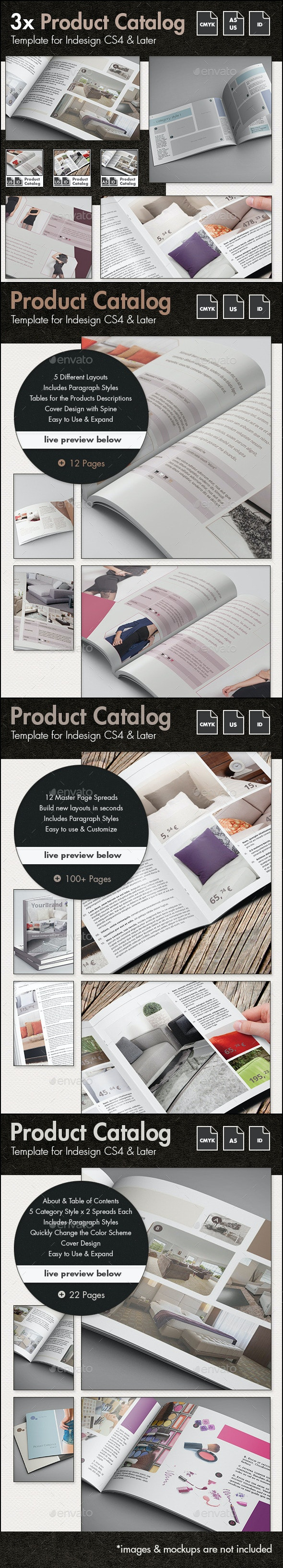 Product Catalog Template Bundle - US Letter and A5 - Catalogs Brochures