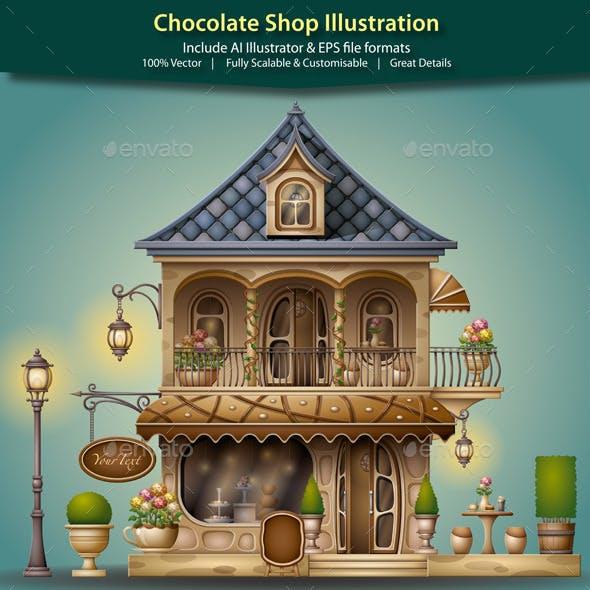 Chocolate Shop Illustration
