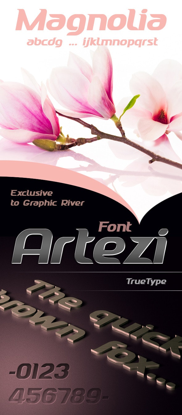 Artezi font - Decorative Fonts