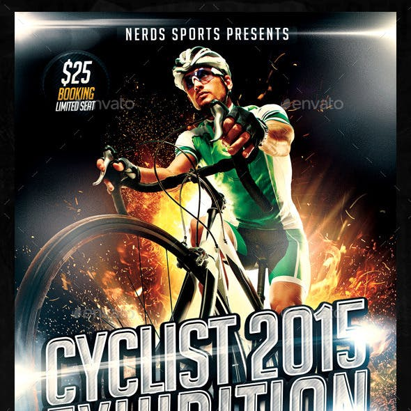Cyclist Exhibition 2015 Sports Flyer
