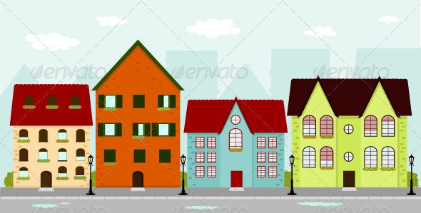 Townhouses - Buildings Objects
