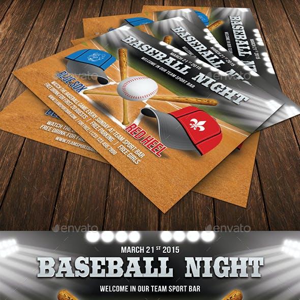 Baseball Night Flyer Template 72