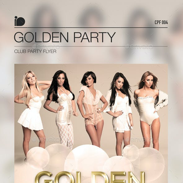 Club Party Flyer - Golden Party