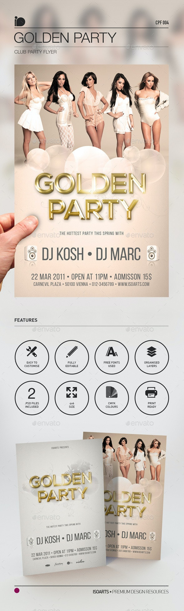 Club Party Flyer - Golden Party - Clubs & Parties Events