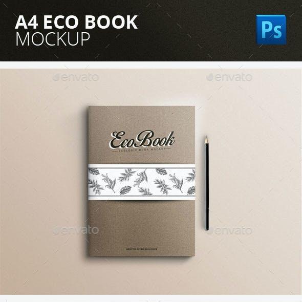 A4 Eco Book Mock-up PSD