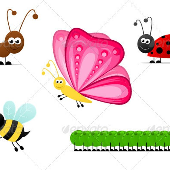 Simple Cartoon Insects