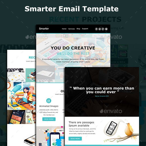 Smarter - Modern Email Template