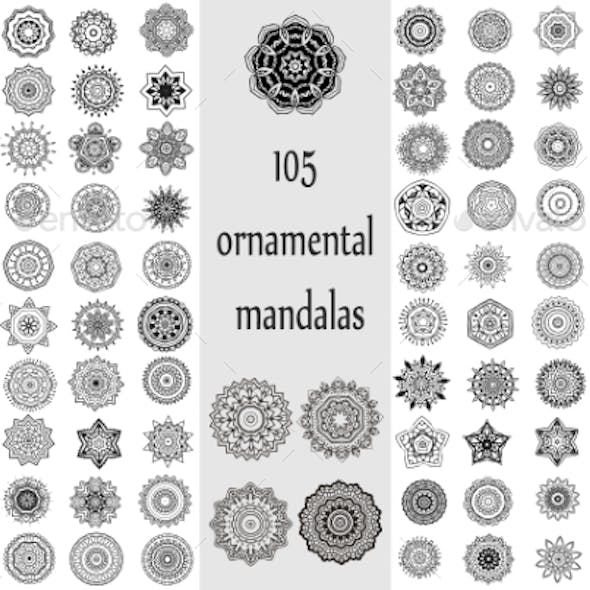 Ornament Round Set with Mandalas