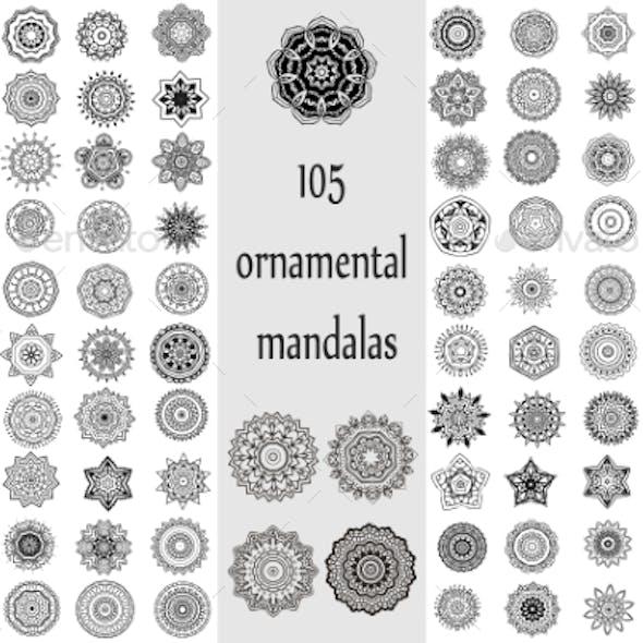 Ornament Round Set with Mandalas