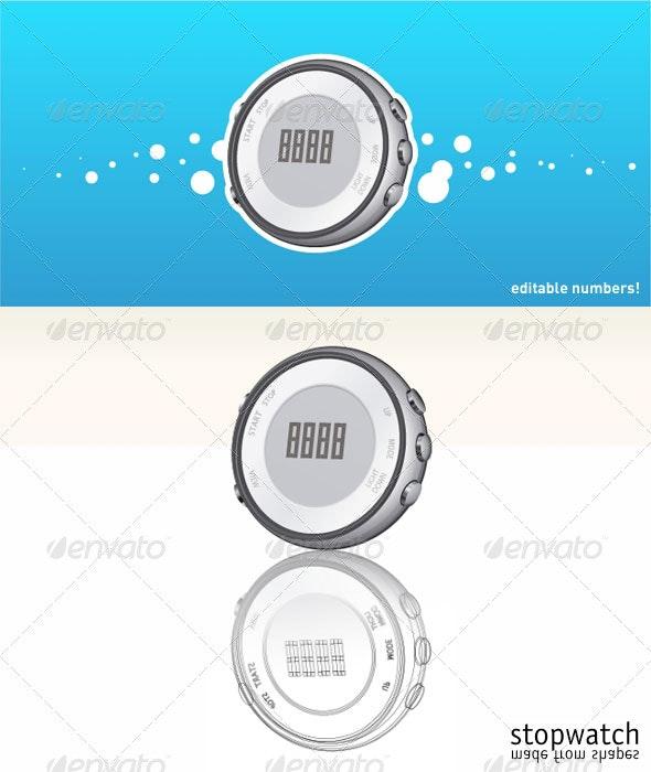 Digital stopwatch 1 - Man-made Objects Objects