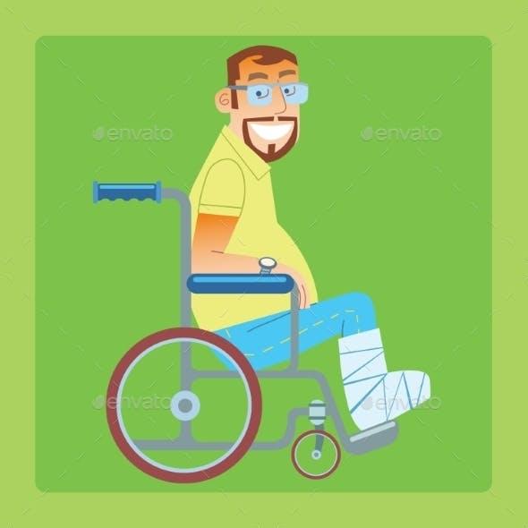 Broken Leg Trauma Patient Wheelchair