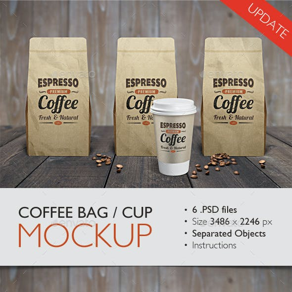 Coffee Bag / Cup Mock Up