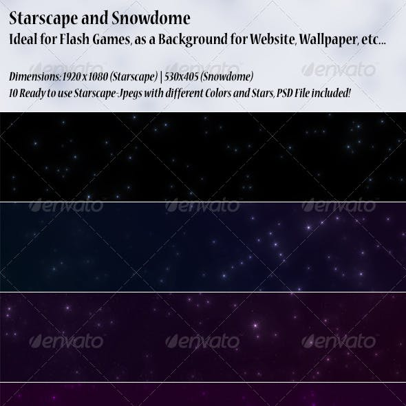 Starscape & Bonus Snowdome