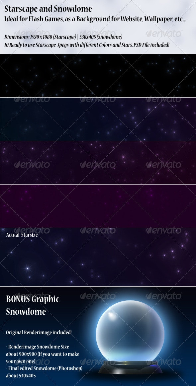 Starscape & Bonus Snowdome - Backgrounds Graphics