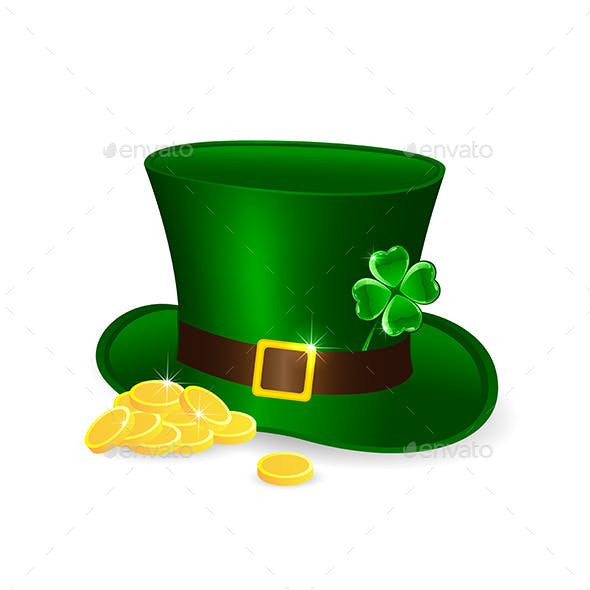 Leprechauns Hat and Coins
