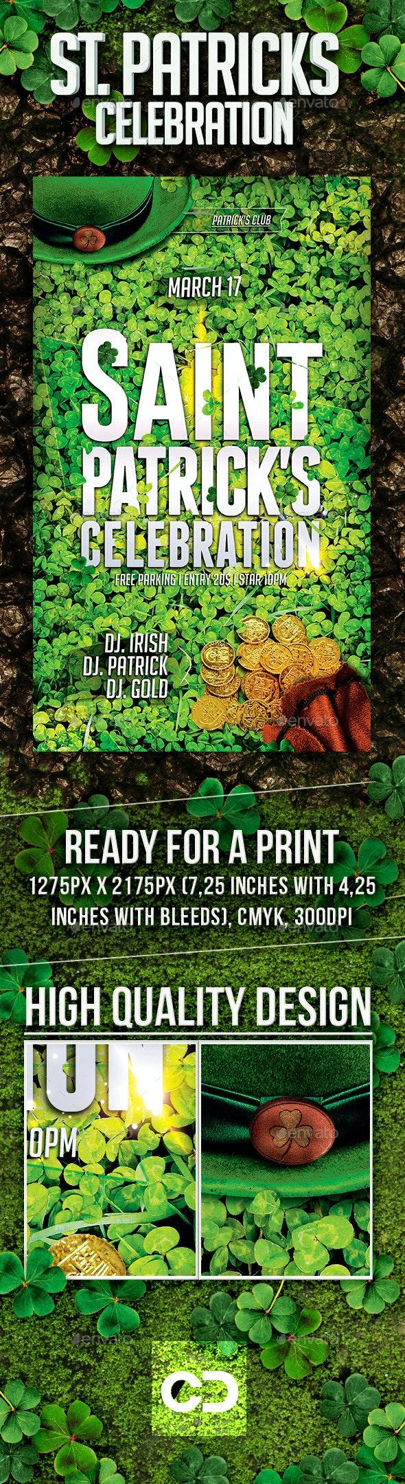 Saint Patricks Celebration - Flyers Print Templates