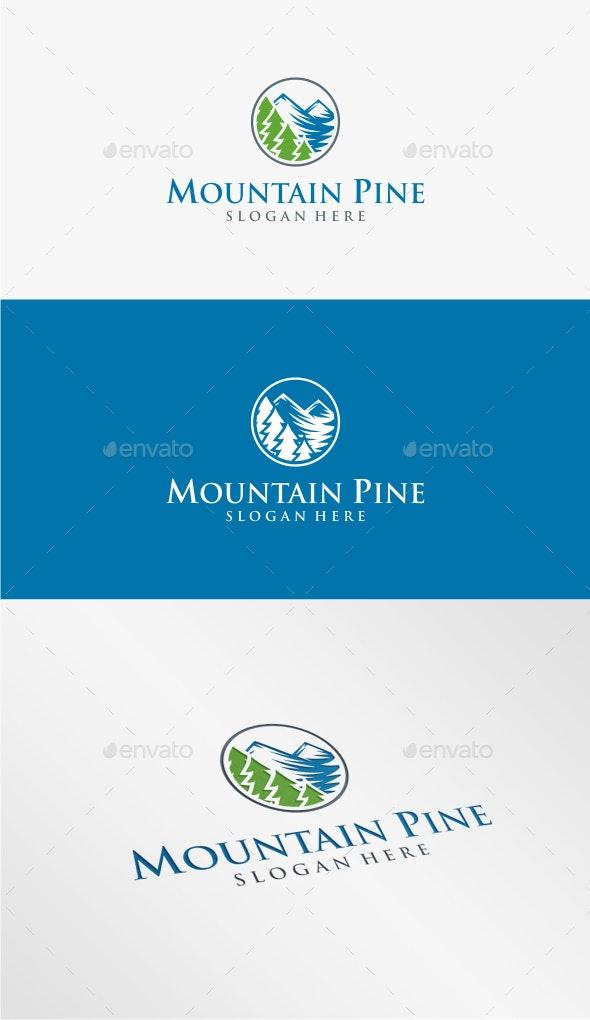 Mountain Pine - Logo Template - Nature Logo Templates