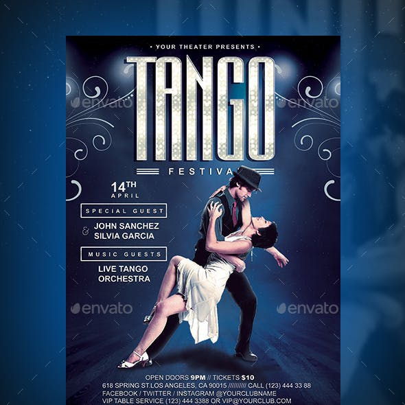 Tango Festival Flyer