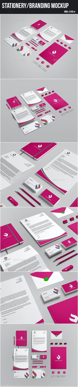 Stationery/Branding Mock-up - Stationery Print