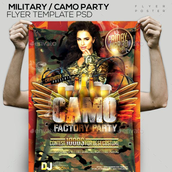 Military/ Camo Template PSD Flyer/Poster
