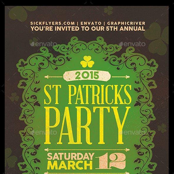 St Patricks Day Party Flyer & Invitation