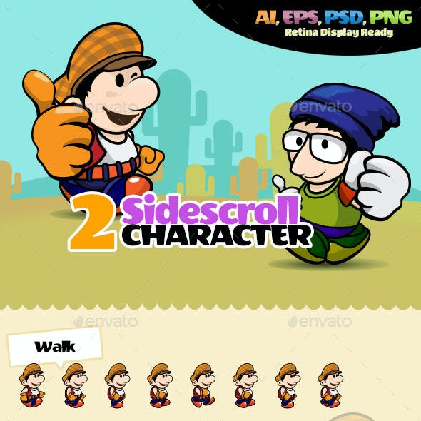 2 Side Scroll Character