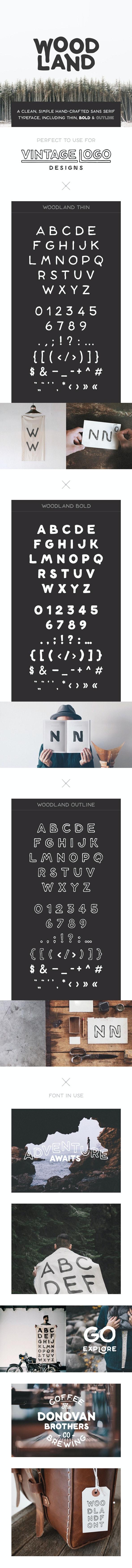 Woodland Font - Sans-Serif Fonts