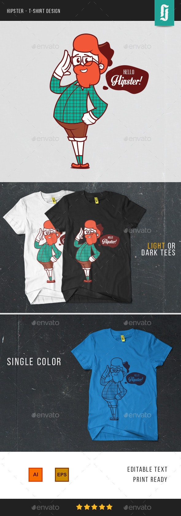 Hello Hipster - Funny Designs