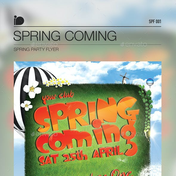 Spring Party Flyer • Spring Coming