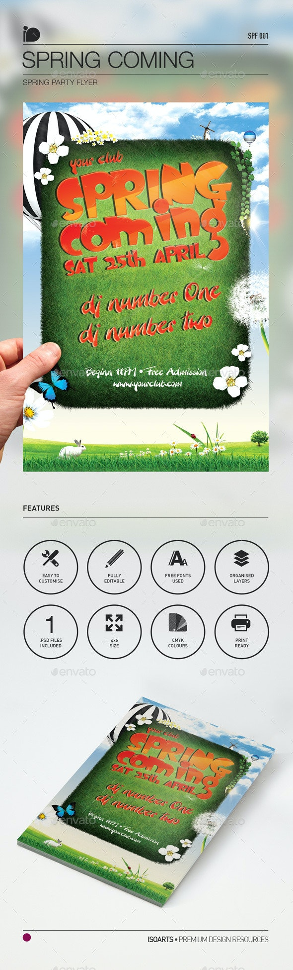 Spring Party Flyer • Spring Coming - Clubs & Parties Events
