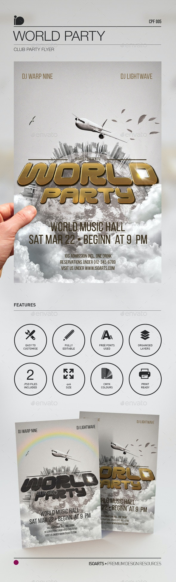 Club Party Flyer • World Party - Clubs & Parties Events