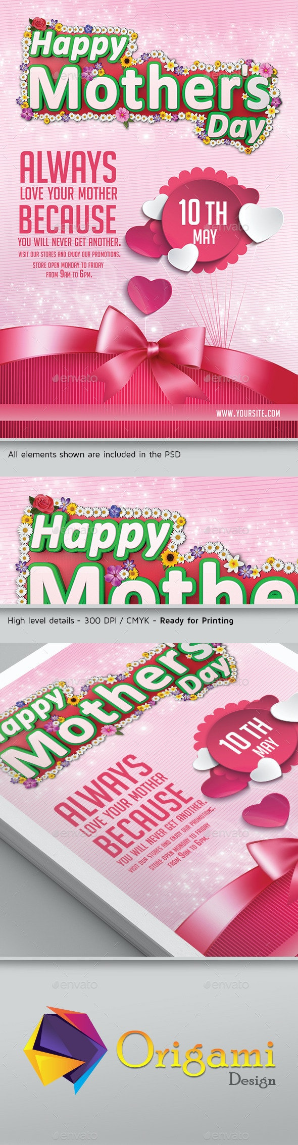 Happy Mothers Day Flyer Template - Events Flyers