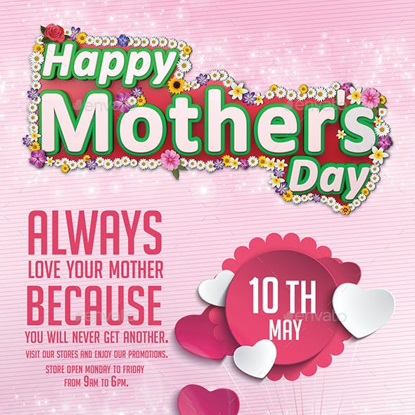 Happy Mothers Day Flyer Template