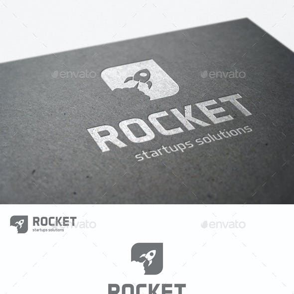 Rocket Launch Logo - Startup Solutions