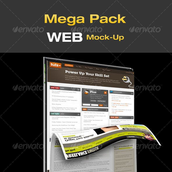 Mega Pack WEB Mock-Up