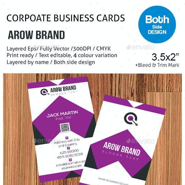 AROW BRAND Business Card