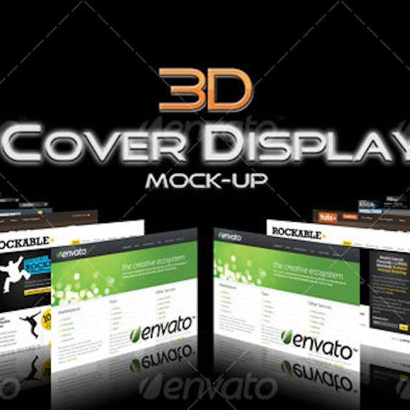 3D Cover Display Mock-Up
